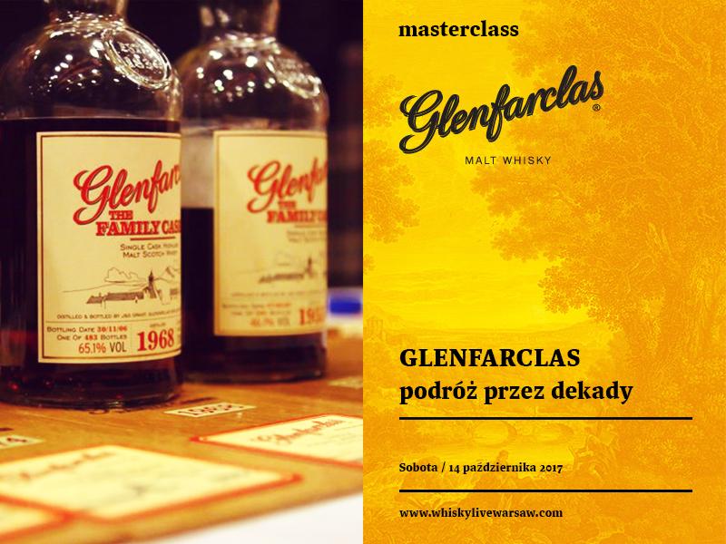 Bilety na masterclass Glenfarclas — podróż przez dekady.