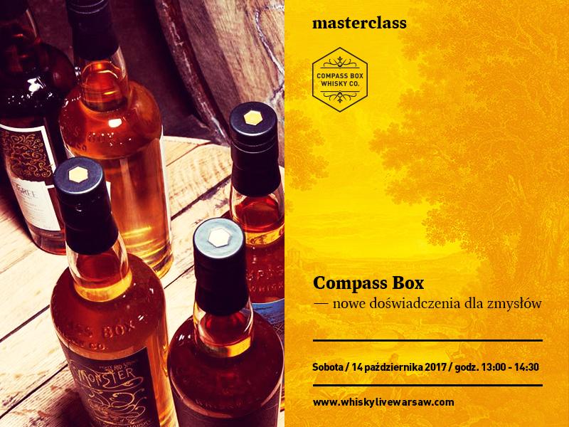 Bilety na Masterclass: Compass Box - Nowe doznania dla zmysłów