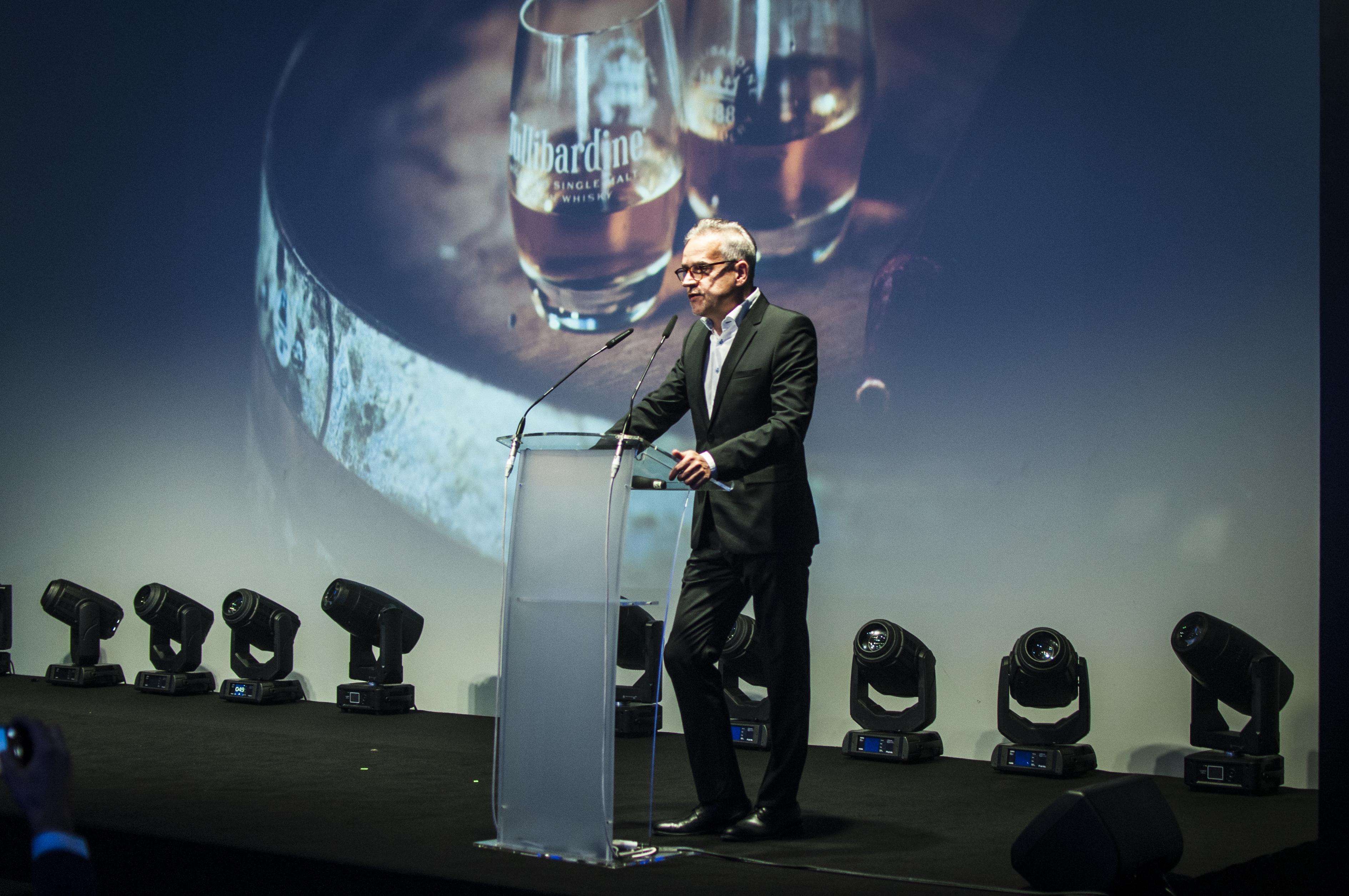 Tullibardine whisky podczas plebiscytu Tech Awards